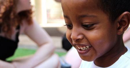 Young Ethiopian boy smiling
