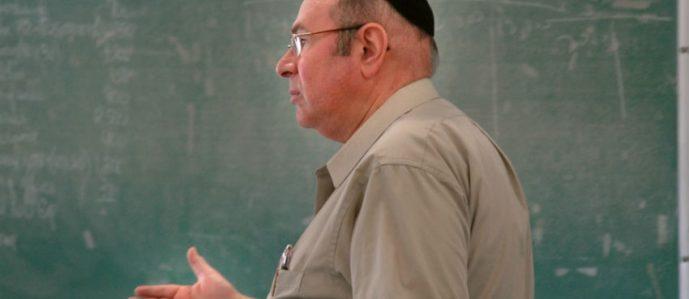 Jewish professor speaking in clasroom