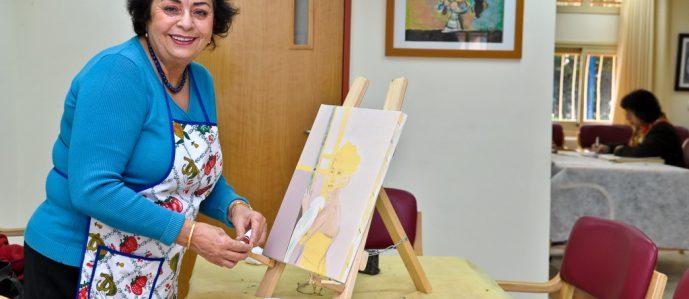 Woman at Center for Holocaust Survivors
